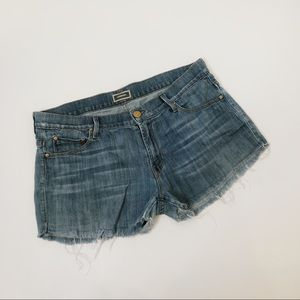 MOTHER Skinny not Skinny Tea for Two Shorts, Sz 29